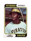 1974 Topps Dave Parker Pittsburgh Pirates #252 Baseball Card