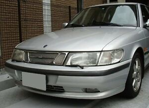 CHROME-MESH-GRILLE-GRILL-For-SAAB-900-93-94-95-96-97-98-99-1999-1998-1997-1996