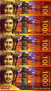 LOT-Easter-Island-5-x-1000-Rongo-2011-Polymer-UNC