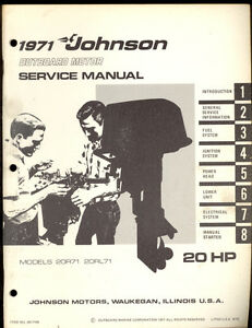 1971 johnson model 20r71 20rl71 20hp outboard motor for Maryland motor vehicle administration change of address