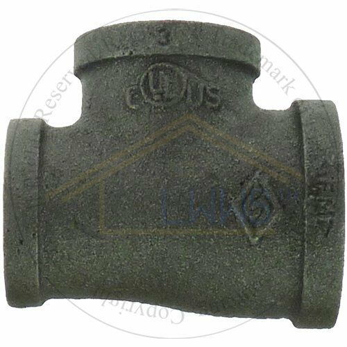 """1"""" x 1/2"""" x 1"""" Black Malleable Pipe Fitting  Reducing Tee (Lot of 10 )  NPT"""