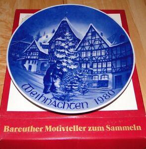 1980 X-Mas Weihnachten Bareuther Bavaria Germany Plate