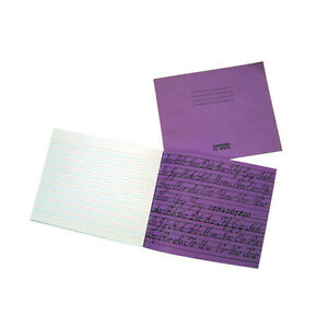 4-x-Handwriting-Exercise-Books-4mm-Blue-Lines-with-16mm-Red-Lines-32-Page