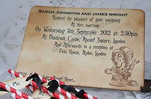 Alice In Wonderland Wedding Invitations Vintage Style Choices