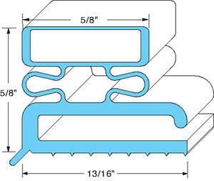 """DOOR GASKET 36 1/2"""" X 80"""" 3-Sided Screw Mount B 3/4 H 3/4 for Master-Bilt 741270"""