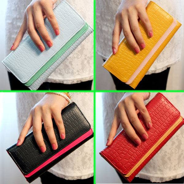 New Card Coin Long Lady Purse Women's Clutch PU Leather Wallet Gift Bag 9 Colors