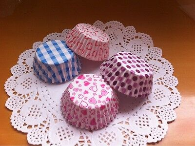 100 Pcs Colorful Paper Baking Cups Cupcake Liners Muffin Cupcake Cases 8.5cm
