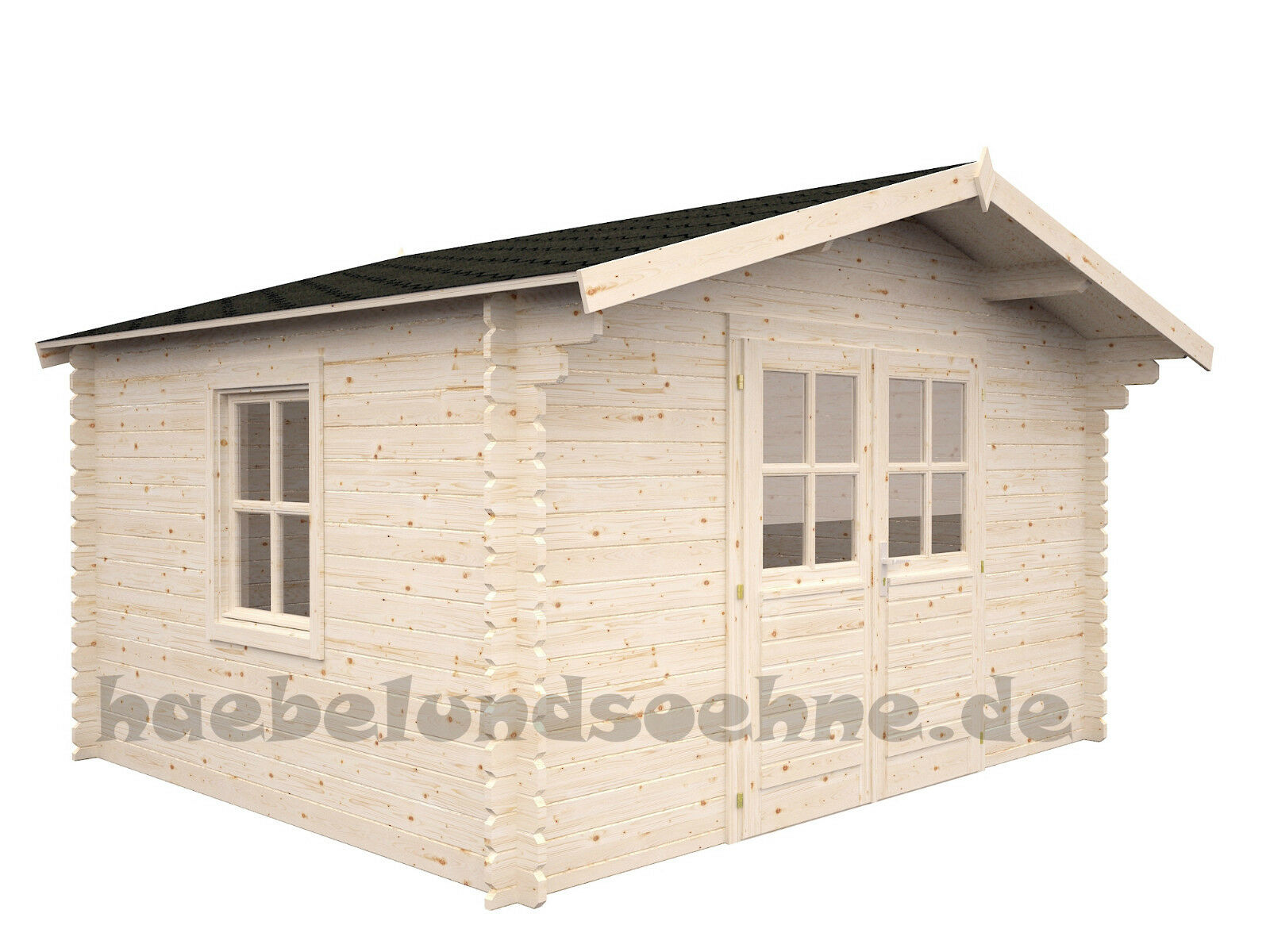 gartenhaus sandy 4 2 anbauschuppen 380x320 cm ger tehaus holz qualit t 34mm 4743142008812 ebay. Black Bedroom Furniture Sets. Home Design Ideas