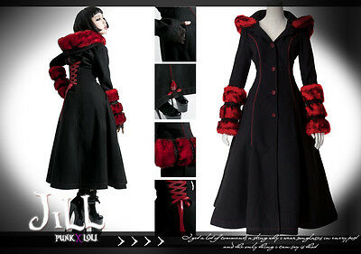 goth reincarnation Aristocrat frosty aging queen reversible parka coat LY036 R