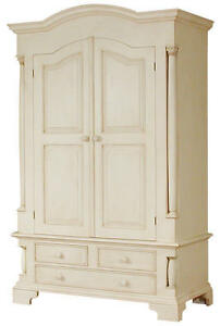 PAINTED-CREAM-PINE-CANTERBURY-DOUBLE-WITH-DRAWERS-WARDROBE-SHABBY-FRENCH-CHIC