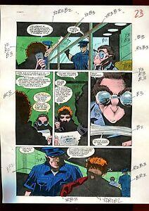 HUNTRESS 7 PAGE 17 COLOR GUIDE-ORIGINAL ART-1 OF A KIND-CAVALIERI-STATON-SMITH