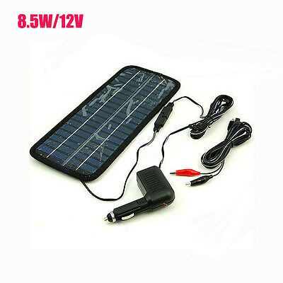 8.5 Watt 12V Car Battery Charger Solar Power Panel +Cigarette adapter with cord