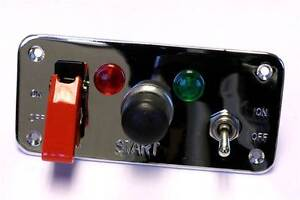 Grayston Competition Starter Panel with Push Button + 2 Lights + 2 Switches