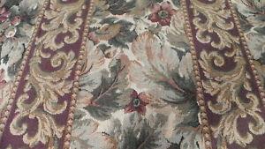 Cream-Beige-Burgundy-Tapestry-Fabric-Upholstery-F285