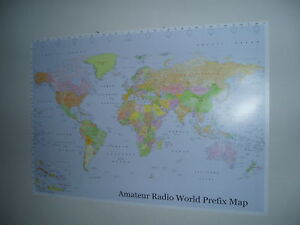 Amateur-Radio-World-Prefix-Map-Ham-39-034-x-27-034