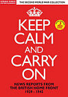 Keep Calm And Carry On - News Reports From The British Home Front 1939-1945 (DVD, 2011)
