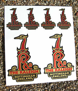 RALEIGH-Vintage-style-Head-Cycle-Bike-GOLD-Stickers