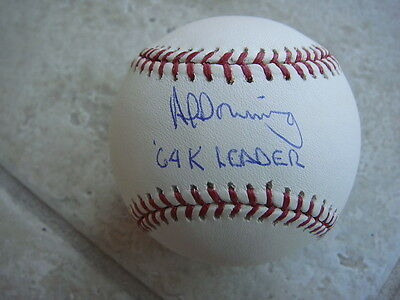 Baseball-mlb Glorious Al Downing 64 K Leader Signed Official Ml Ball W/coa Pure Whiteness