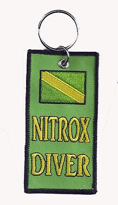 SCUBA DIVE - NITROX DIVER Key Ring/ Zipper Pull  - New Size  2 x 4