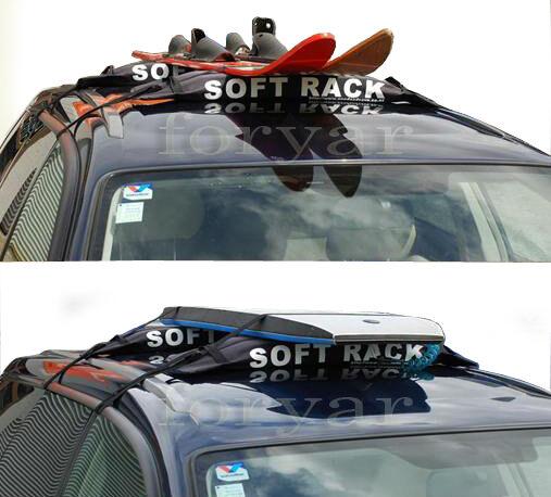BRIGHTLINES SOFT RACKS SNOW SKI SURF BOARD CROSSBAR FOR HONDA ACCORD CIVIC SEDAN