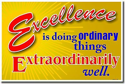 NEW School POSTER - Excellence is Doing Ordinary Things Extraordinarily Well