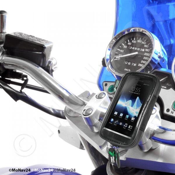 Motorradhalterung wetterfeste Tasche Smartphone iPhone Suzuki GSR 600 750