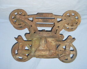 Old-Antique-MYERS-Hay-Trolley-Cast-Iron-Ornate-Barn-Carrier-Hardware-Farm-Pulley