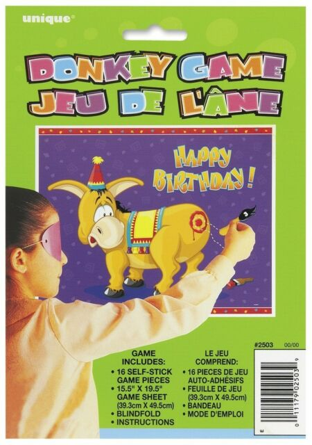 PIN THE TAIL ON THE DONKEY CLOWN PIRATE PRINCESS CHILDRENS BIRTHDAY PARTY GAMES