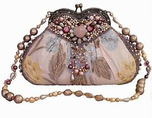 Mary-Frances-Shoulder-Clutch-Bag-039-Sweetheart-039-New-with-Tags-amp-Dustbag