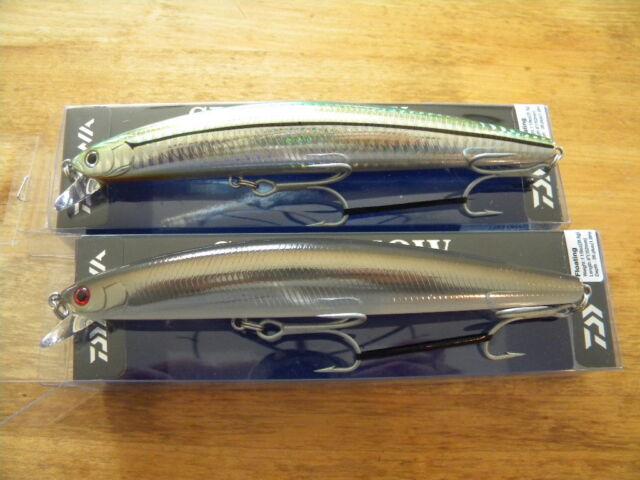 Daiwa Salt Pro Minnow SP Dark eel saltiga DSPM15F Sandeel & Green LURE LOT2 NEW