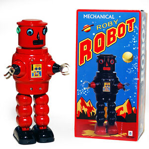 ROBOT-CLASSIC-Retro-Tin-Collectable-Ornament-Red-TMS640R