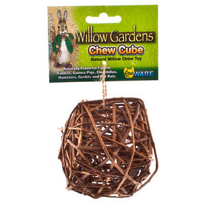 WARE NATURAL WILLOW GARDENS CHEW CUBE WITH BELL SMALL ANIMAL TOY FREE SHIP USA