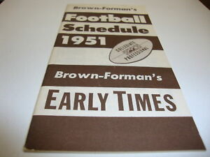 1951-USA-COLLEGE-PRO-FOOTBALL-SCHEDULE-GOOD-CONDITION