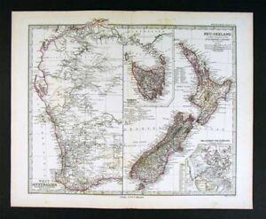 1882-Petermann-Map-New-Zealand-Tasmania-West-Australia