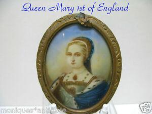 Queen-Mary-1st-Miniature-Portrait-Sgn-1850-1899