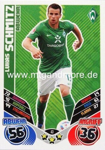 Match Attax 2011//2012 SV Werder Bremen Karte aussuchen