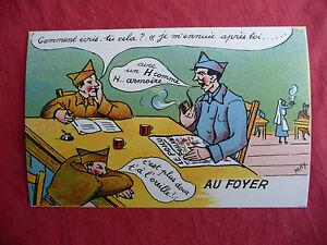 cpa carte postale ancienne humoristique militaire bidasse au foyer ww2 may 39 r ebay. Black Bedroom Furniture Sets. Home Design Ideas