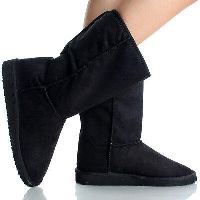 Australia Classic Short Ladies Flat Faux Suede Shearling Fur Womens Winter Boots