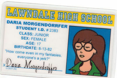 For your Wallet ID HOLDER pick Daria Morgendorrfer McLovin Beavis or Butthead