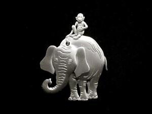 034-JJ-034-Silver-Pewter-039-Monkey-Riding-Elephant-039-Pin