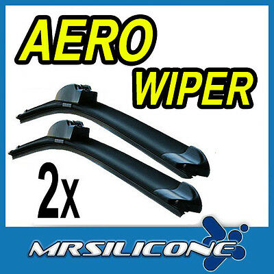 "Aero Front Flat Beam Windscreen Wiper Blades 21"" 19"" Upgrade Pair Car"