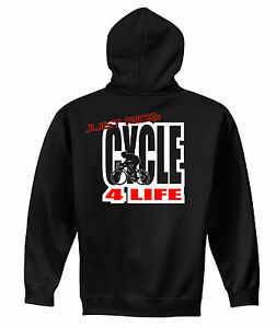 JUST-RIDE-CYCLE-4-LIFE-HOODIE-SWEAT-SHIRT-BIKE-BICYCLE-TREK-CANNONDALE-BIANCHI