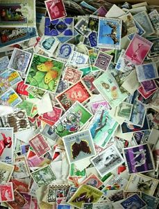 1000-BULK-WORLDWIDE-STAMPS-OFF-PAPER-FREE-SHIPPING-to-USA-amp-CAN-others-40-off