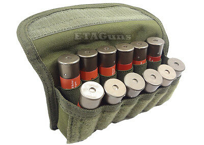 CONDOR MA12 MOLLE PALS Shotgun 12 Shell Gauge Ammo Reload Pouch Holster OD Green