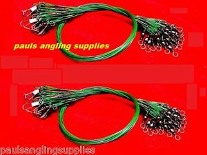 12-ASL-Pike-Thin-Coated-29-cm-Fishing-Wire-Spinning-Traces-Trace-Snap-amp-Swive-l