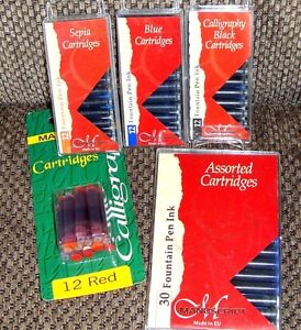 Calligraphy Ink Cartridges Choose Your Colors Blue Red