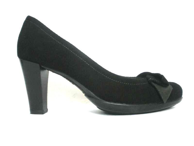Schuhe Damens MELLUSO Dècollète V5423 TACCO MADE E PLATEAU CAMOSCIO NERO MADE TACCO IN ITALY 8d1780