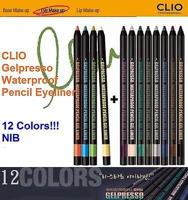 [CLIO] New GelPresso WaterProof EyeLiner,12 Colors,NIB,gel presso,eye liner,NIB