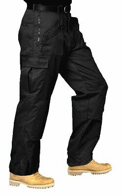 Mens Multi Pocket Cargo Combat Work Trousers with 10 Pockets  - SHOP STOCK 903