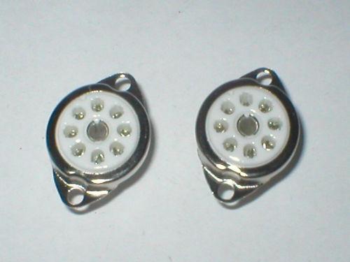 2 x Rimlock valve sockets for EF40 EZ40 EL41 etc